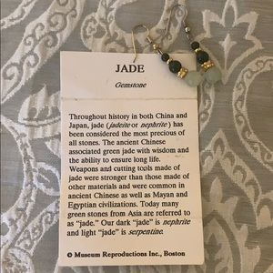 Jewelry - Vintage Jade Earrings - Museum Replica Collection